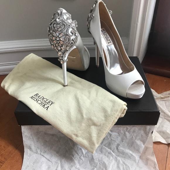 3199cb4a7c Badgley Mischka Shoes   Karolina Embellished Evening Shoe   Poshmark